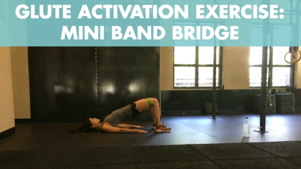 Mini Band Glute Bridge for Glute Activation