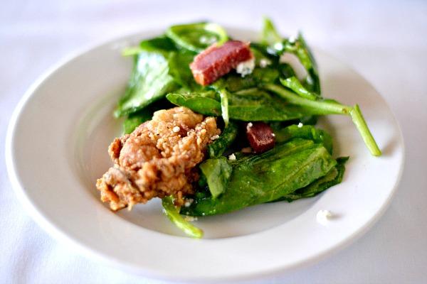 Oyster Salad at Marina Cafe
