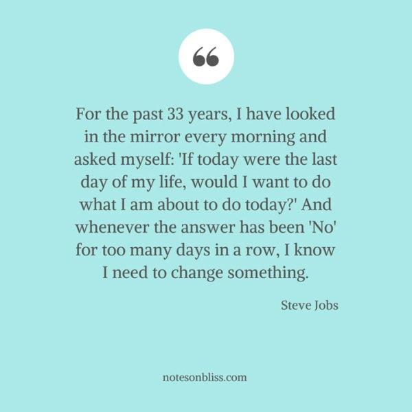 Steve Jobs Mirror Quote