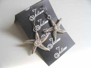 Star Fish Earrings with bling