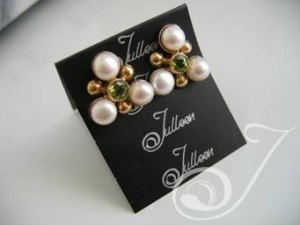 Clip On Maja Peridot Earrings