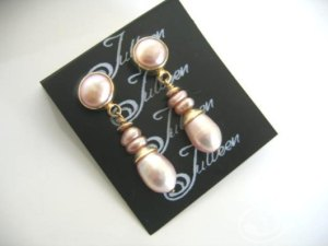 Pink Velvet Earrings