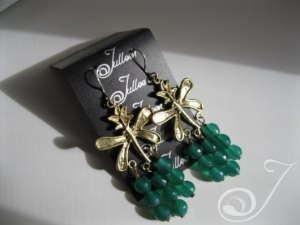 Emerald Green Cluster Earrings