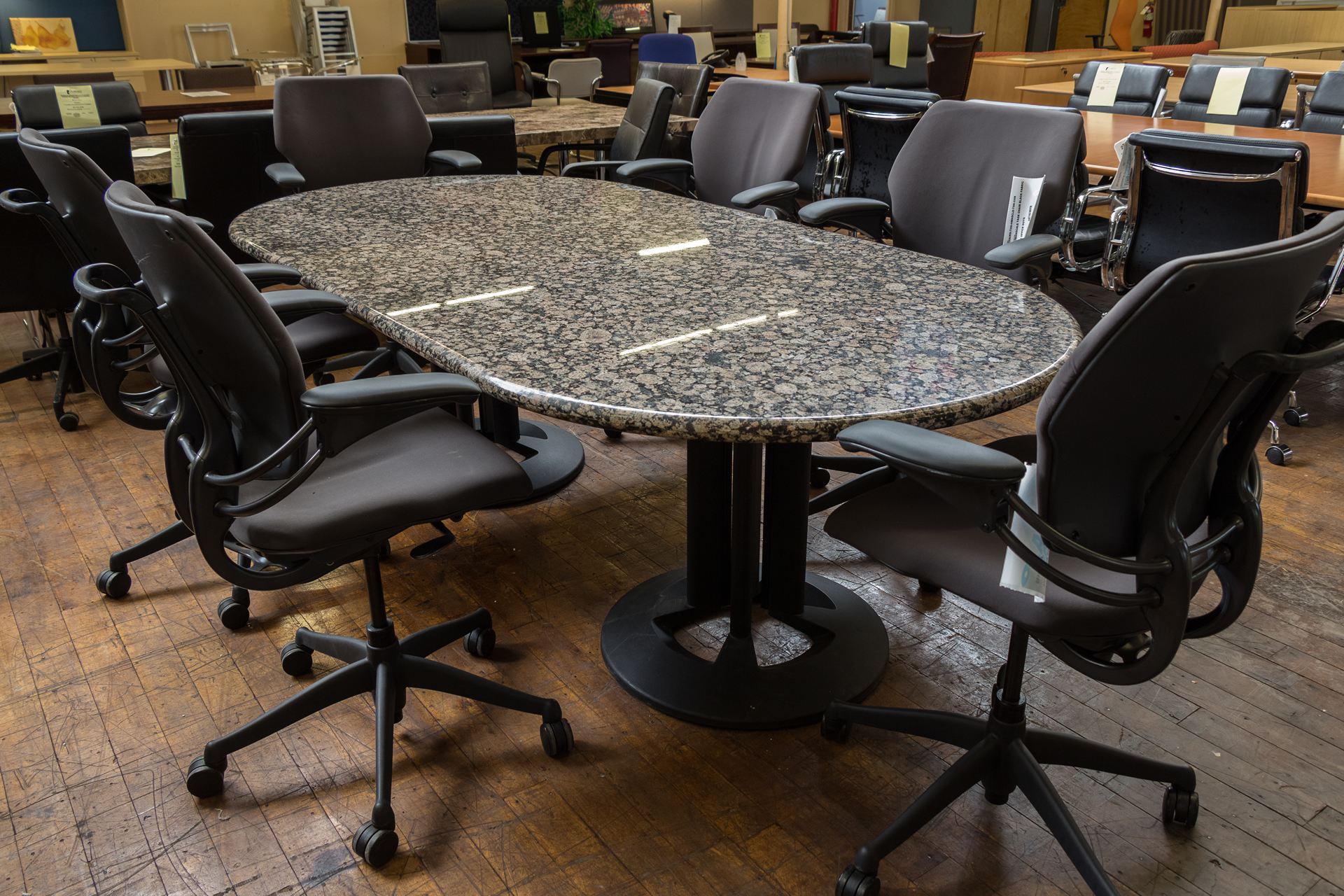 Granite 8′ x 4′ Racetrack Conference Table