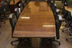 Custom Mid Century Vintage 19 Rosewood Conference Table O Peartree Office Furniture