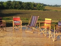 Red Cedar Decking and Director's Chairs