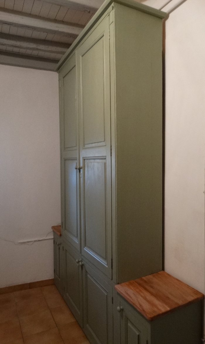 Painted Pantry Cupboards