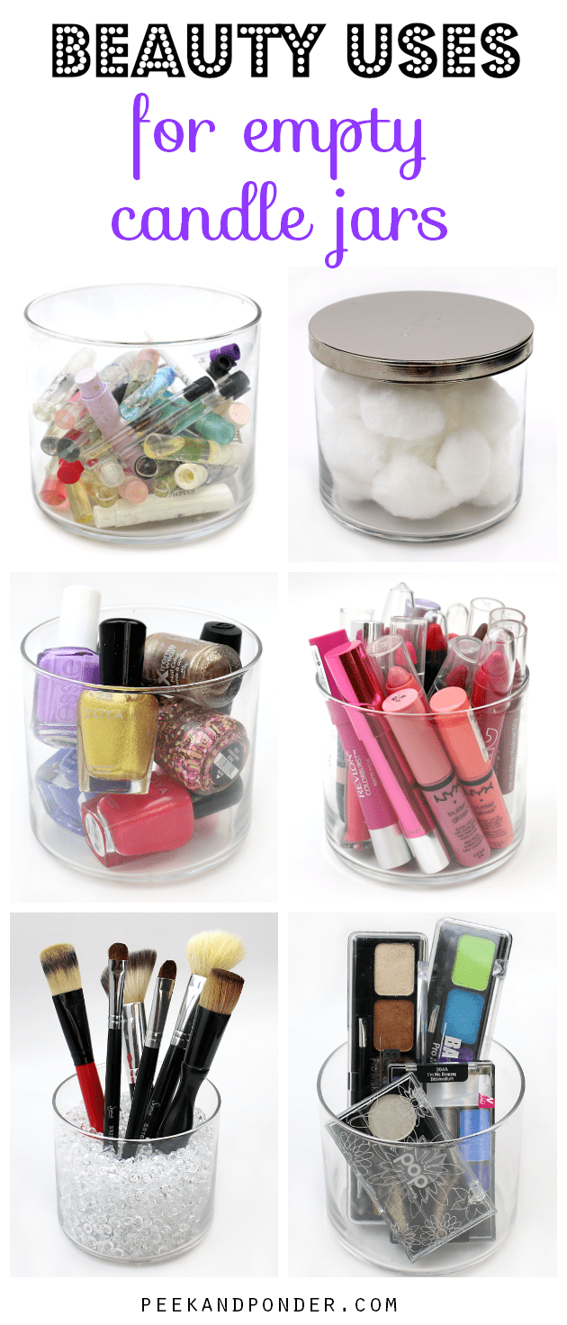 7 beauty uses for empty candle jars for Craft ideas for empty jars