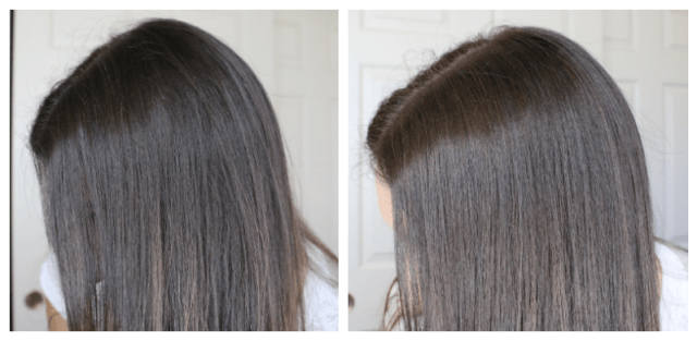 Before and after John Frieda® Brilliant Brunette Visibly Brighter