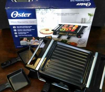 Oster Mini Raclette Grill Review + Giveaway