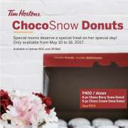 Mother's Day Treat: Tim Hortons' ChocoSnow Donuts
