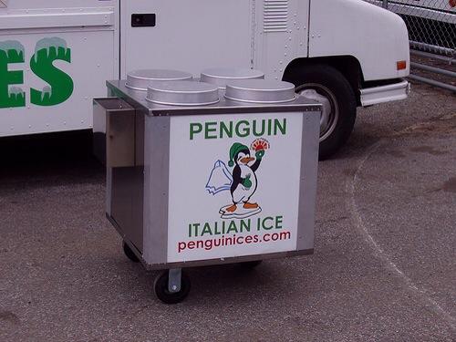 penguin italian ice cart