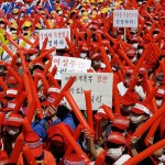 Sex workers in Seoul protest anti-prostitution laws.