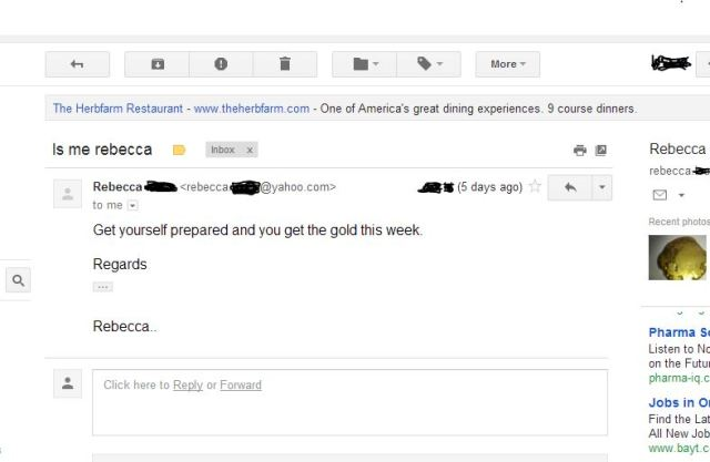 A serious business email from a very serious business woman