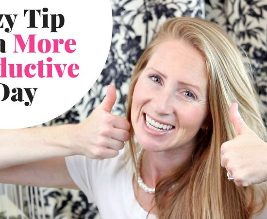 My LAZY trick on how to have a more productive day. Find out how being lazying is going to help you have a more productive day.