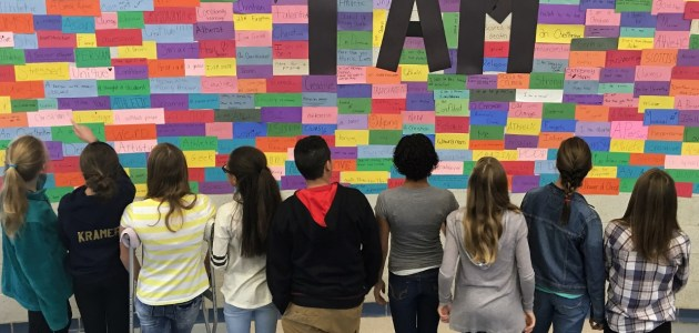 'I Am' wall at Manor MS seeks to dispel stereotypes