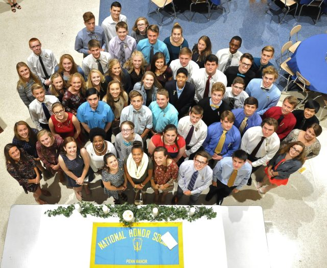 The 2016-2017 National Honor Society inductees.