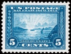 1913 Panama-Pacific Stamp - Golden Gate