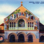Post Card of Stanford Chapel