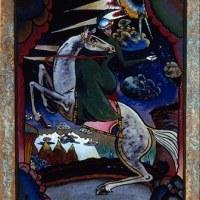Wassily Kandinsky, Amazzone sui monti, 1918, olio su vetro, San Pietroburgo, Museo di Stato Russo  © Wassily Kandinsky, by SIAE 2012