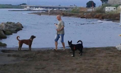 Romina e Pablo in spiaggia