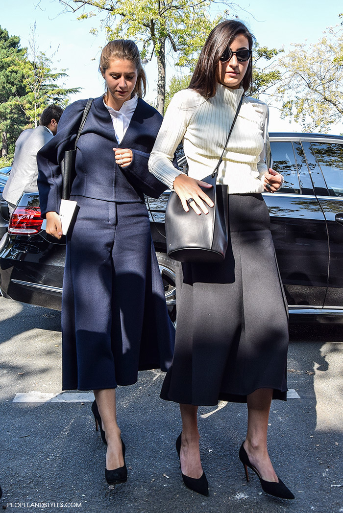 2 Perfect Wear to Work Outfits: Culottes and a Midi Skirt