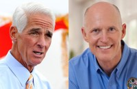 Former Florida Gov. Charlie Crist, a Republican-turned-Independent-turned-Republican again, is challenging incumbent Republican Gov. Rick Scott in the Florida governor race.