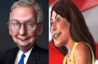 Minority Leader Mitch McConnell  faces Alison Lundergan Grimes in the 2014 Kentucky Senate race.