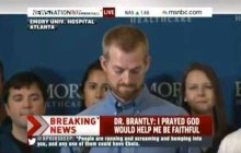 Dr. Kent Bradley, the 33-year-old Christian doctor and missionary from Texas, thanked God for sparing his life after being cured of the deadly Ebola virus.