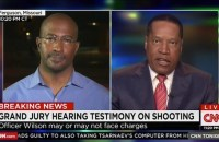 Larry Elder appeared on with Don Lemon and Van Jones on CNN to discuss whether Officer Darren Wilson should be charged in the shooting of Michael Brown.
