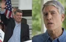 Rep. Cory Gardner (left) proves to be a challenging roadblock for vulnerable incumbent Democratic Senator Mark Udall (right).