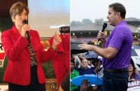 Republican Joni Ernst (left) and Democrat Rep. Bruce Braley (right) face off in the contested Iowa Senate race in November. (Photo: AP)