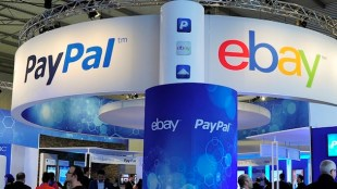 Ebay Paypal Split Desk. (Photo: AFP/Josep Lago)