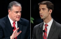 Vulnerable incumbent Democrat Mark Pryor (left) and Republican Rep. Tom Cotton (right) are pictured in this composite image. (Photos: AP)
