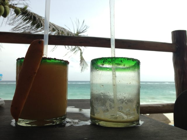 Two for one happy hour, Tulum, Mexico