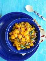 Butternut Squash Kootu-South Indian Fusion Recipe