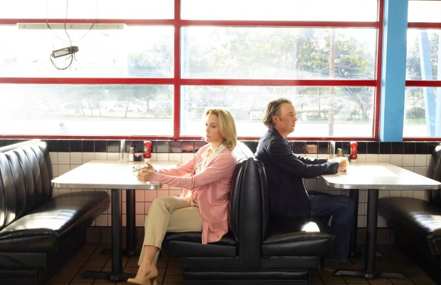 "AMERICAN CRIME - ABC's ""American Crime"" stars Felicity Huffman as Barb Hanlon and Timothy Hutton as Russ Skokie. (ABC/Bob D'Amico)"
