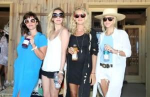 Griselda Siciliani, Julieta Cardinalli, Leonora Balcarce y Brenda Gardini juntas en la fiesta de vitaminwater