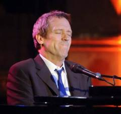Hugh Laurie performs at the Union Chapel in London