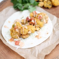Oyster Po Boy Tacos with Fried Pickles