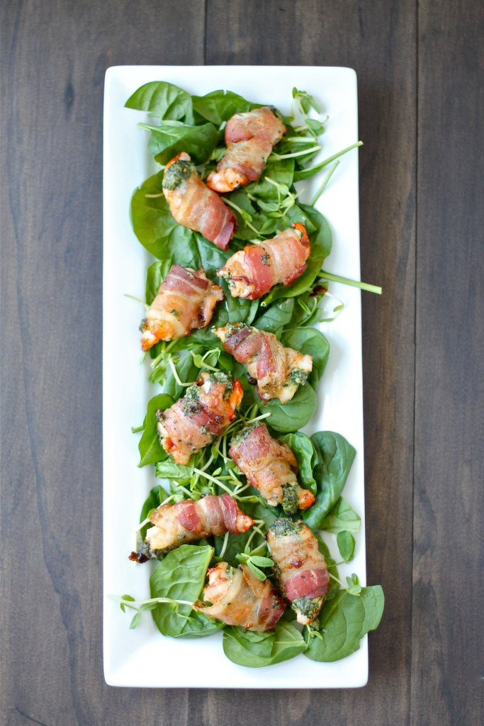 Spinach Artichoke Stuffed Shrimp with Bacon