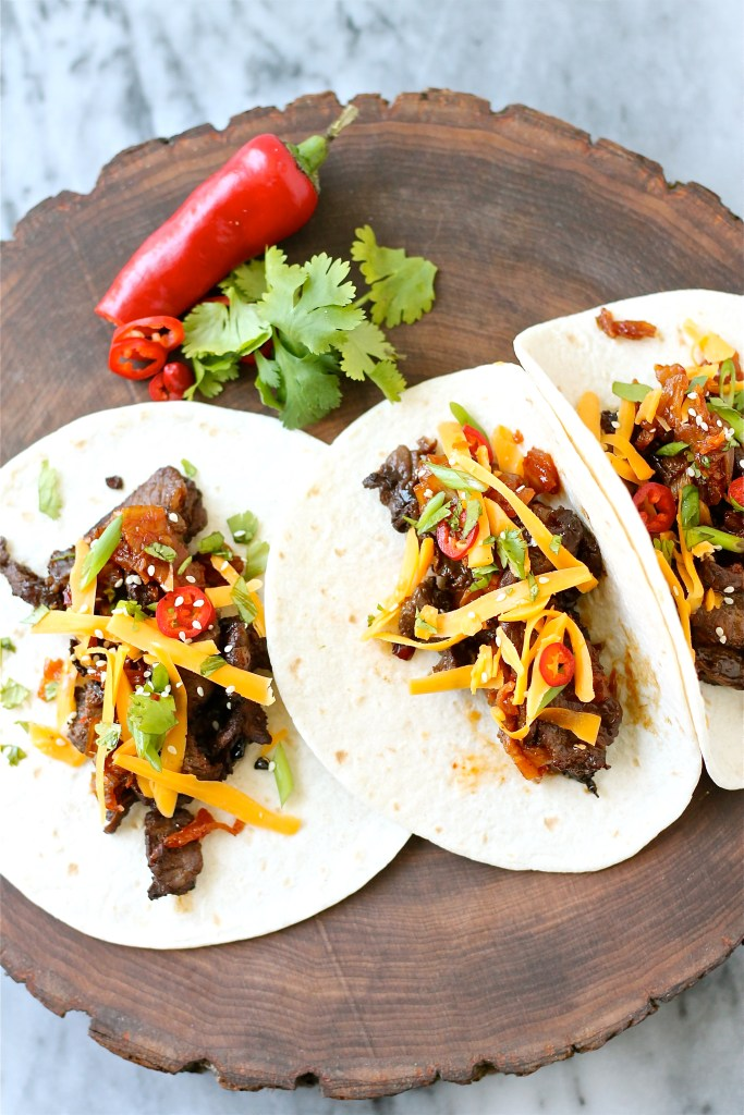 Korean-Inspired Beef (Bulgogi) Tacos