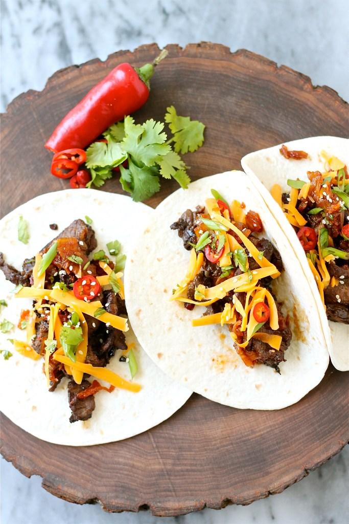Korean-Inspired Beef (Bulgogi) Tacos