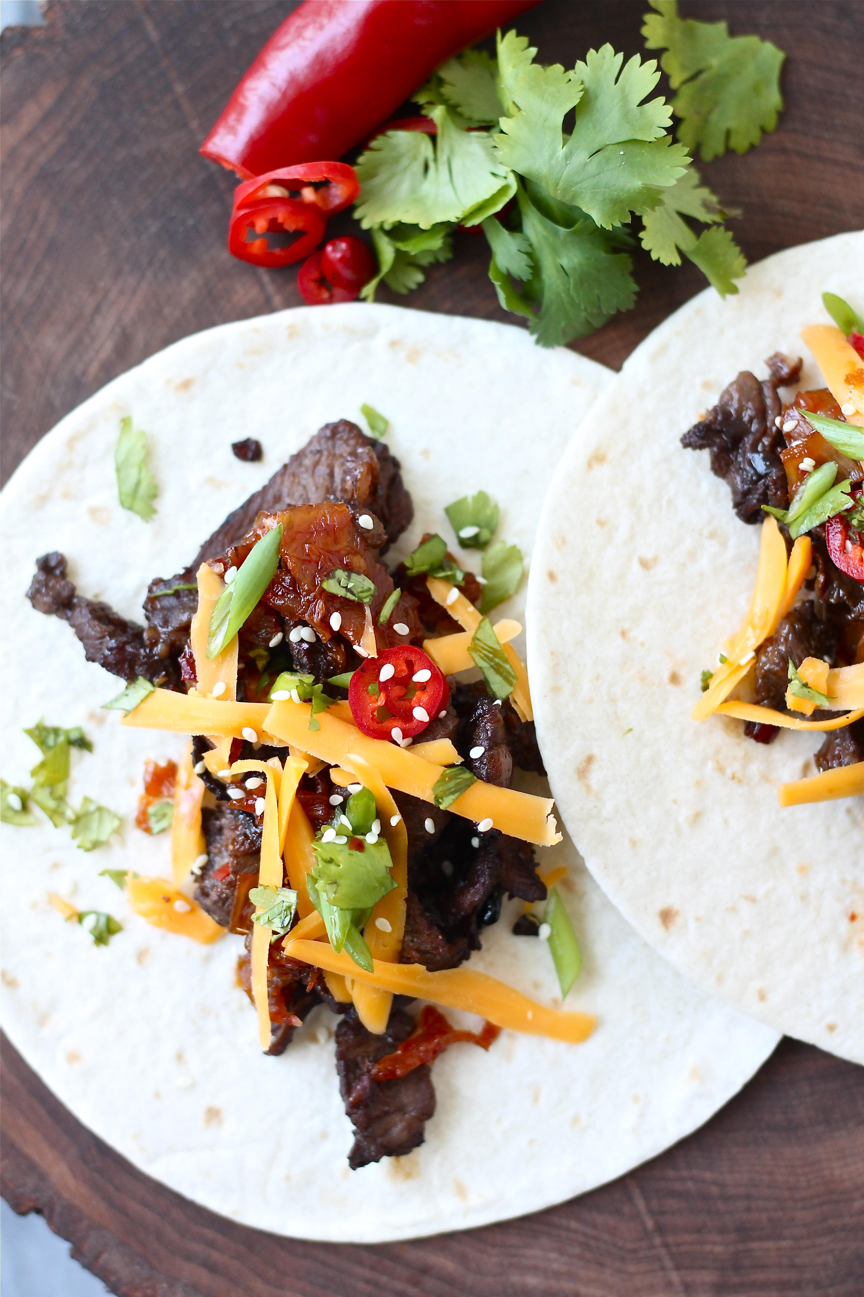 Korean-Inspired Grilled Beef (Bulgogi) Tacos | Perpetually ...