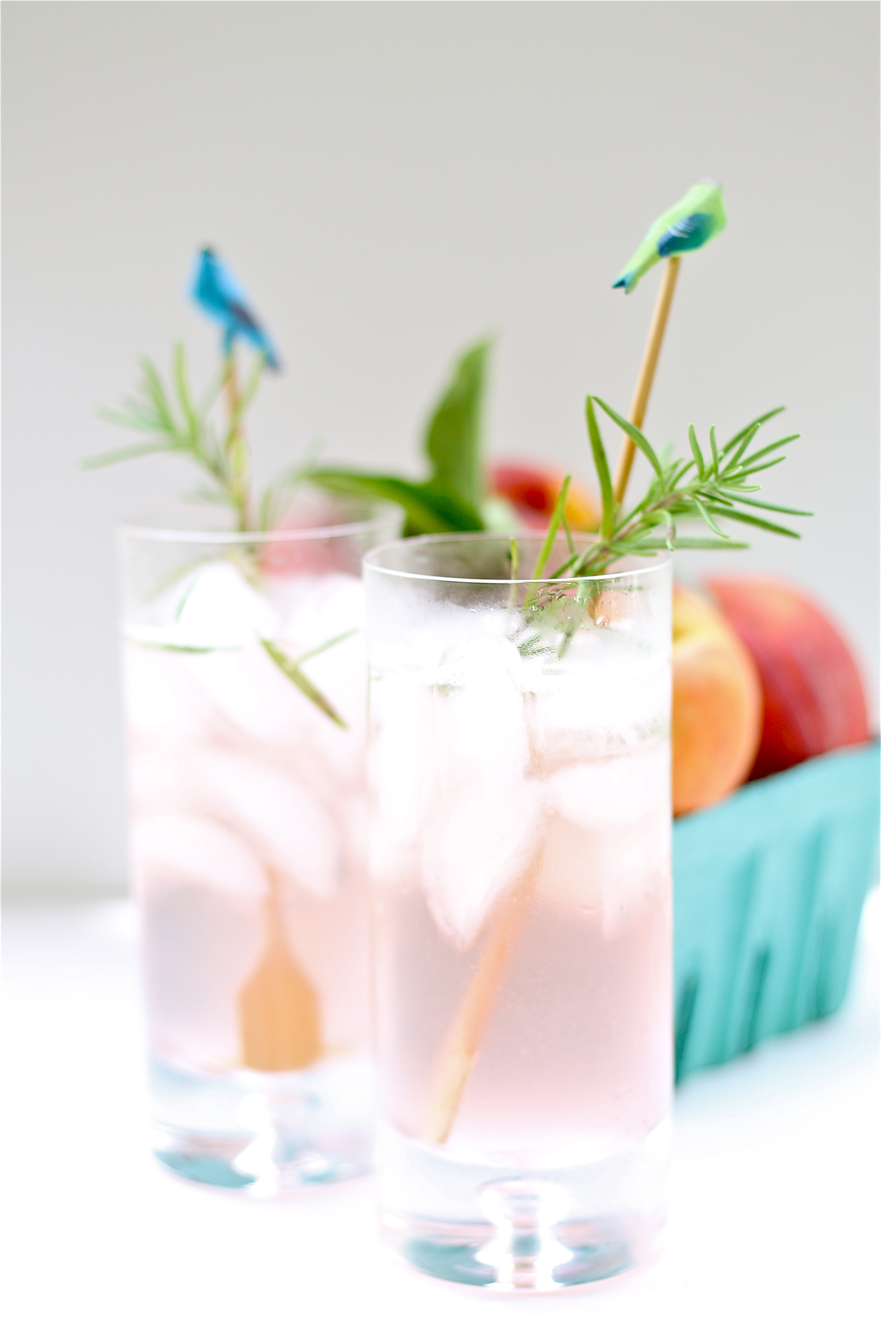 Peach Basil Collins | Perpetually Hungry