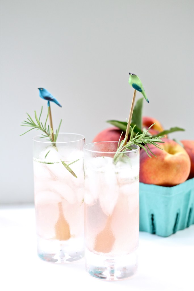 Peach Basil Collins