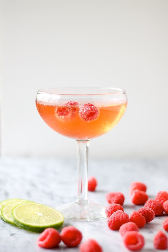 Raspberry and Ginger Beer Champagne Cocktail | Perpetually ...