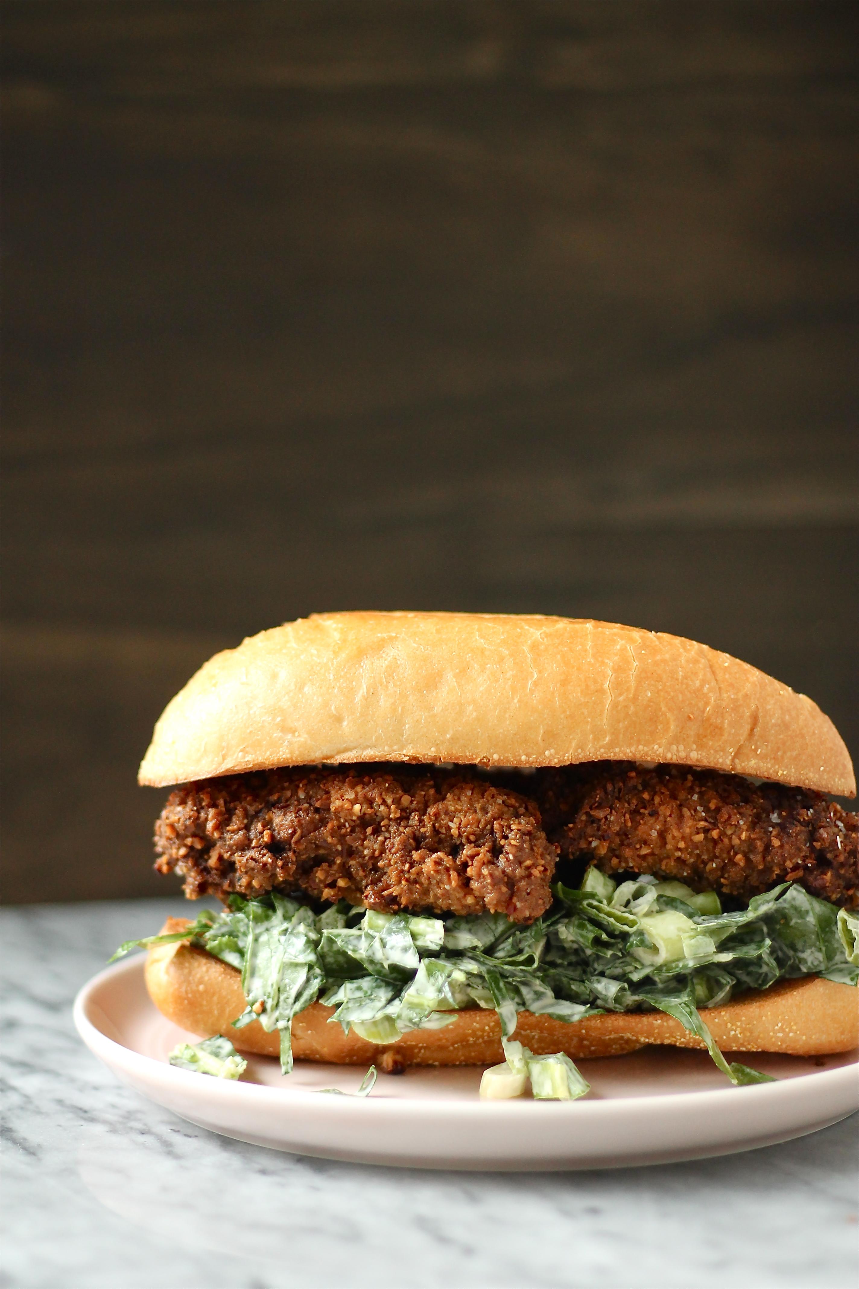 Chicken Pecan Bulgur Burgers Recipe — Dishmaps