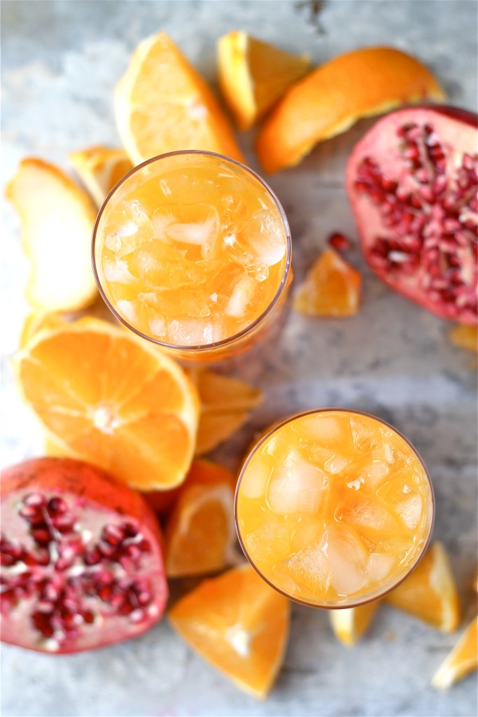 Clementine and Pomegranate Cocktail