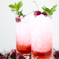 Bourbon Cherry Fizz